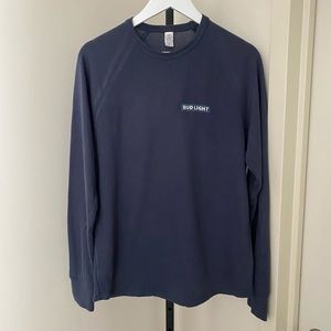 Bud Light Navy Long Sleeve Shirt